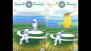 【Pokemon GO】第三代寶可夢阿勃梭魯道館對戰!
