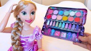 Куклы Пупсики Рапунцель Красится Детской Косметикой Мультик Для детей Игрушки Для девочек