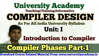 L4:compiler Phases,compiler Pass,Lexical Analysis ,Syntax Analysis, Semantic Analysis Tutorial Hindi