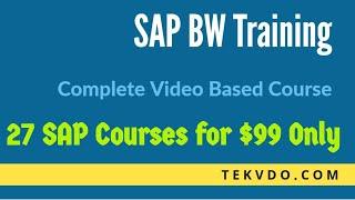 SAP BW Training - INFO OBJECTS Part 1 - SAP BI Training
