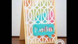 Heat Embossed DIY Colored Embossing Paste