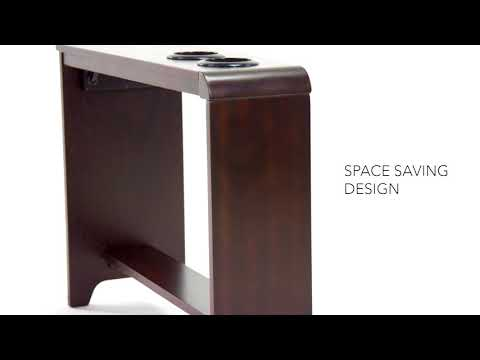 almost black carlyle chairside end table view 4 video
