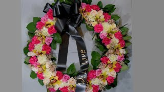 How to make standing wreath with mixed flowers