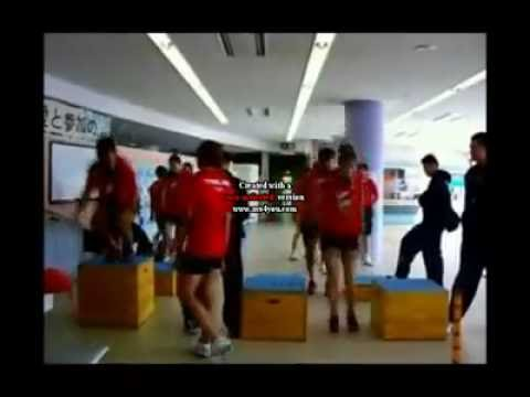 Preview video Thailand Volleyball women team training in Tatsuno 2010