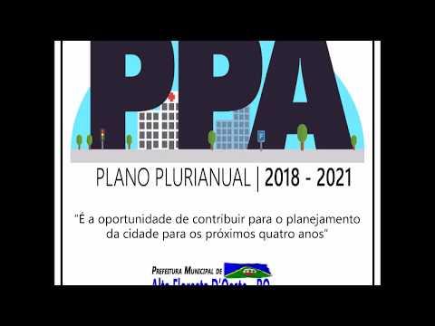 Audiência Pública PPA - 2018 à 2021