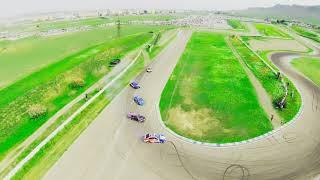 Drift training on our FIA race track. my first DJI FPV drone ✈️ flight.