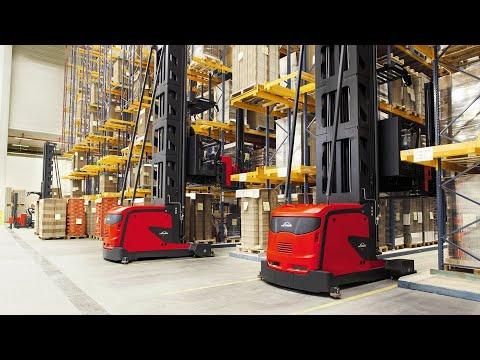 Very Narrow Aisle - Man-Up - K-Truck [Product Presentation] - Linde Material Handling