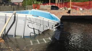 Everything's ruined pool collapse Vlog #115