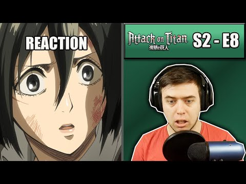Rich Reaction - Attack On Titan Season 2 Episode 8 - Mikasa, Armin and Hannes
