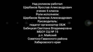 Работа Щербакова Ярослава МБОУ СШ №15 п. Майский Советско-Гаванский район конкурс Мы за безопасное будующее