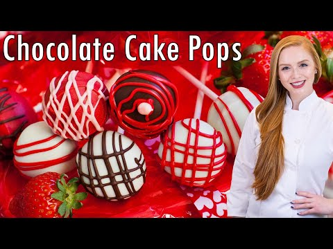 Video Salted Caramel Chocolate Cake Pops