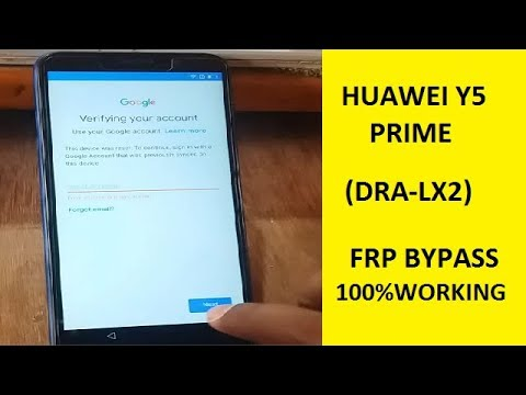 Huawei Y5 Prime 2018 frp bypass dra-lx2 android 8 1 - смотреть
