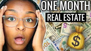 How Much I Made First Month As A Real Estate Agent