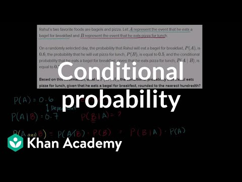 Calculating conditional probability (video)   Khan Academy