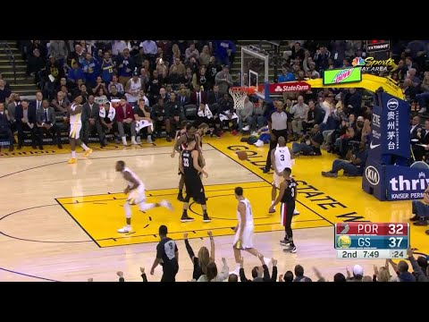 2nd Quarter, One Box Video: Golden State Warriors vs. Portland Trail Blazers