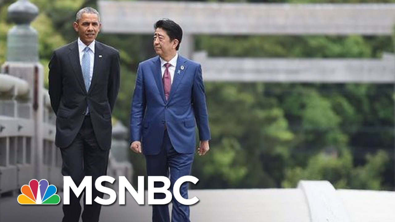 President Obama Welcomes Japanese PM To Pearl Harbor For Historic Visit | Andrea Mitchell | MSNBC thumbnail