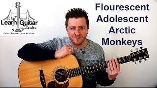 Arctic Monkeys - Guitar Lesson - Flourescent Adolescent - Intro Riff - TAB on screen