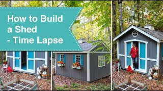 How to Build a Shed Time Lapse