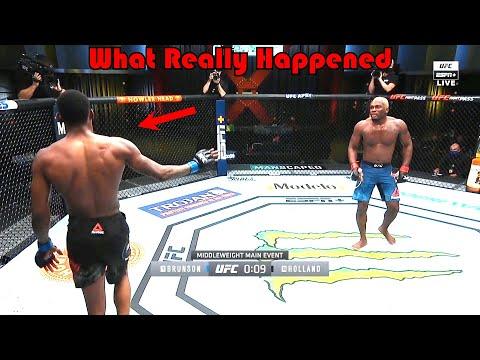 What was that…? (Derek Brunson vs Kevin Holland)