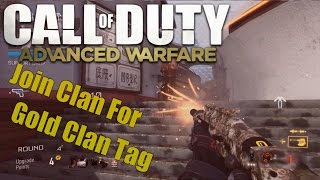 Call of Duty Advanced Warfare Join Clan For Gold Clan Tag (AW Clan)
