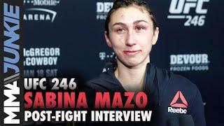 UFC 246: Sabina Mazo post fight interview