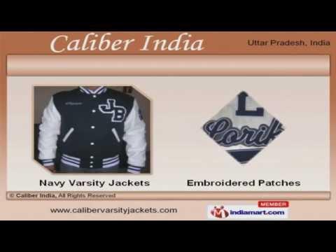 Scarlet Body Bright Royal Sleeves Varsity Jacket