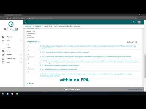 Entrustable Professional Activities Management System