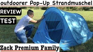 outdoorer Pop-Up Strandmuschel Zack Premium Family Test & Review