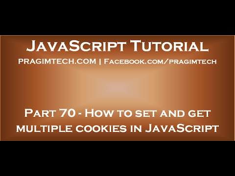 Set and get multiple cookies in JavaScript