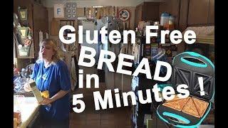 BAKE Fresh BREAD Gluten Free FAST & EASY 5 minutes with Sandwich Maker