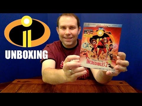 "Disney Pixar ""Incredibles 2"" Blu-Ray Unboxing Review"