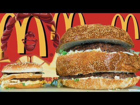 DIY MCDONALD'S GIANT BIG MAC CHALLENGE