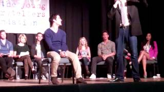 """Darren Criss is put on the spot when he's late to the YSF """"The Biggest Show"""" - 20th October, 2012"""