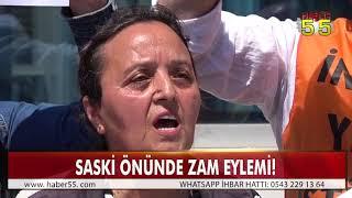 SAMSUN'DA SU ZAMMINA SASKİ ÖNÜNDE TEPKİ!