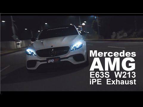 Mercedes AMG E63S W213 iPE Exhaust Sound test