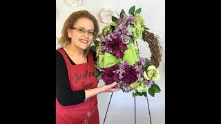 How To Make A Flower Wreath Tutorial