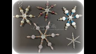 12 Days Of Christmas - Day 11 - Beaded Snowflake Ornaments