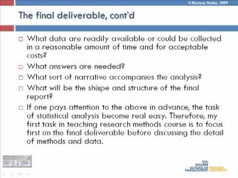 Lecture 1: Intro to research methods - YouTube