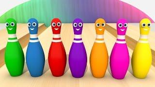 Учим Цвета - Игра в Боулинг. Развивающий Мультфильм Для Детей. Изучаем Цвета Малыш | Волшебство ТВ