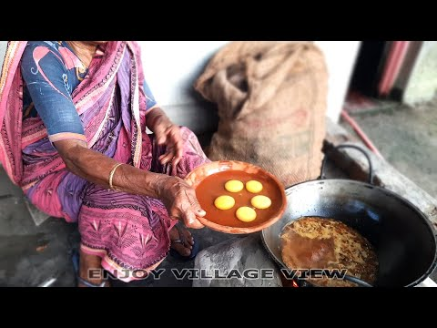 Village Grandma's Egg Curry Cooking Recipe | Village Food Cooking Recipe