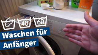 Wäsche waschen – Anleitung für Anfänger mit Bedienung der Waschmaschine – Grundlagen-Tutorial