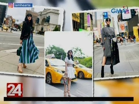 [GMA]  24 Oras: Heart Evangelista at Janine Gutierrez, dumalo sa New York Fashion Week