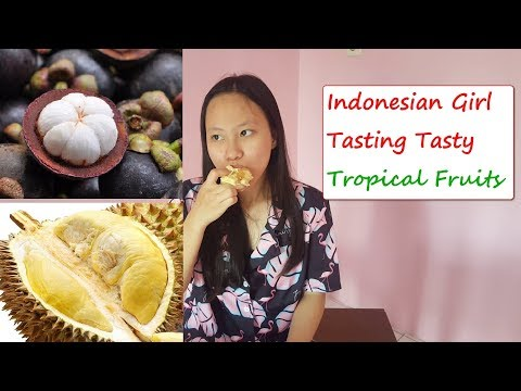 Tasting Exotic Tropical Fruits In Indonesia