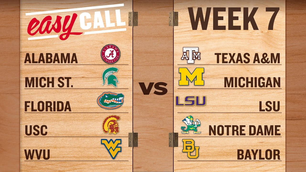 Easy Call: How road teams can rule college football's Week 7 thumbnail