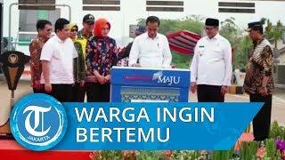 Melongok di Balik Pagar Beton, Warga Kecewa Jokowi Tak Menyapa seusai Resmikan Tol Kunciran Serpong