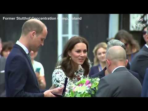 Prince William and Princess Kate visit former Stutthof concentration camp, Poland.