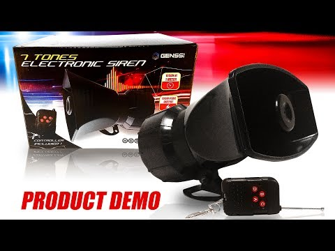 Wireless Police Siren 7 Tone Fire Warning Sounds Electronic