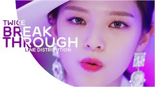 "TWICE ""Breakthrough"" [LINE DISTRIBUTION]"