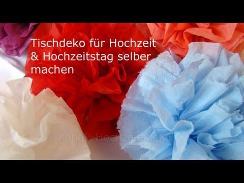 Tischdeko für die Hochzeit selber machen: Rosen aus Servietten