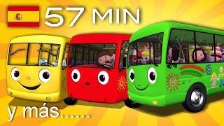Las Ruedas Del Autobús | Y Muchas Más Canciones Infantiles | ¡57 Min De LittleBabyBum!